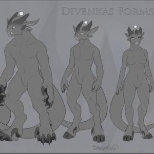 Line up Divenka forms